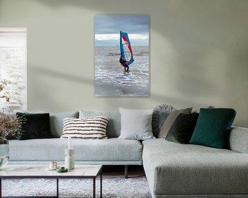 Windsurfer bij Domburg van MSP Canvas
