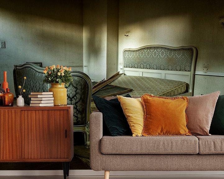 Beispiel fototapete: Das Goldene Schlafzimmer. von Vincent Willems