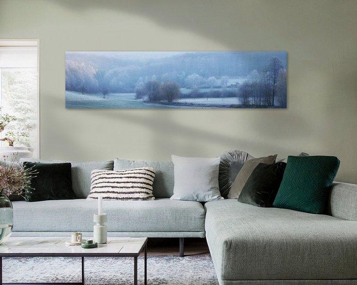 Sfeerimpressie: Panorama - Landschap in koude november van Tobias Luxberg