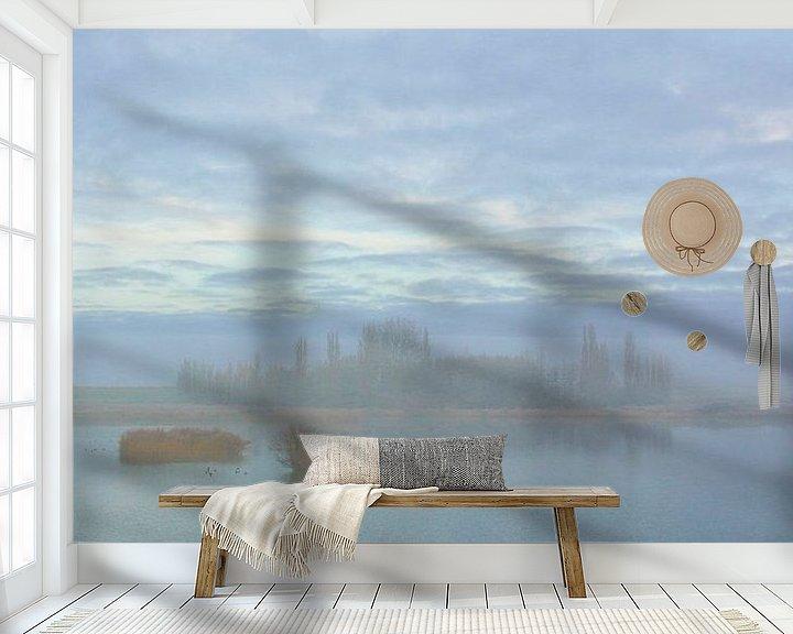 Sfeerimpressie behang: Mist op de schellinkhouterdijk van Nathalie Pol