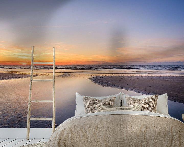 Beispiel fototapete: Sonnenuntergang in Koksijde von Johan Vanbockryck