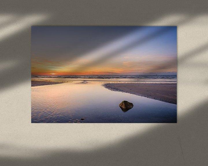 Sfeerimpressie: Zonsondergang in Koksijde van Johan Vanbockryck