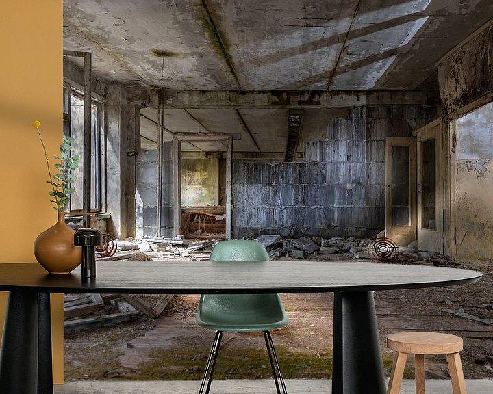 Beispiel fototapete: Schule nach Tschernobyl evakuiert von Gerard Wielenga