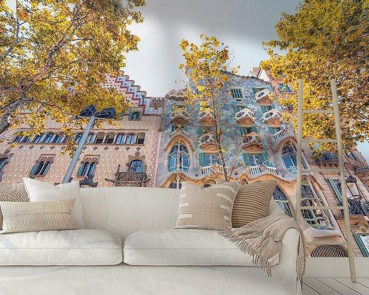 Sfeerimpressie behang: Casa Batlló van Manjik Pictures