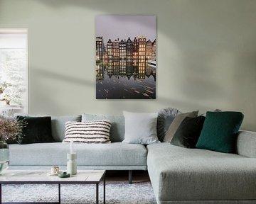 De Damrak, Amsterdam van Nick de Jonge - Skeyes