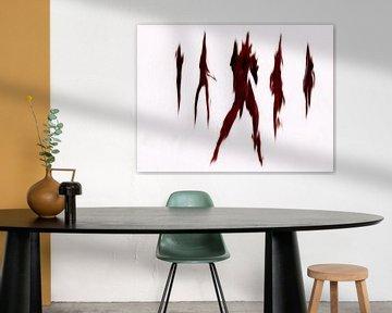 Abstrakt in rot von Maurice Dawson