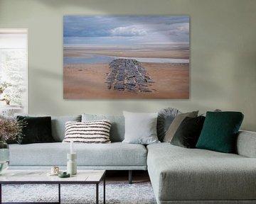Golfbreker op het strand van Johan Vanbockryck