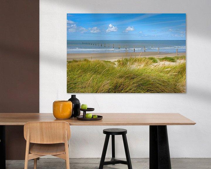 Sfeerimpressie: Strand van Nieuwpoort van Johan Vanbockryck