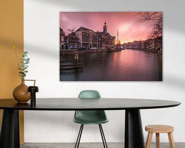Zonsopkomst in Schiedam