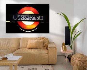 Metro Londen Underground van Berg Photostore