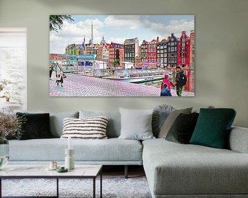Kreuzfahrthaltestelle Amsterdam Rederij Plas-Kanal von Digital Art Nederland