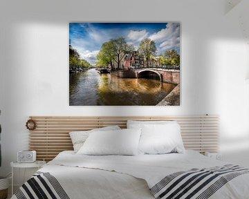 Lieflijk tafereel in Amsterdam van ina kleiman