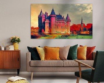 Schloss de Haar in Haarzuilens von Digital Art Nederland