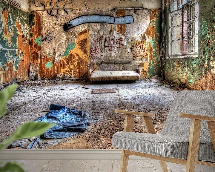Beispiel fototapete: Zimmer im verlassenen alten Sanatorium von Tineke Visscher