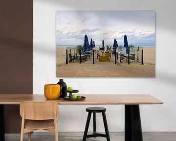 Terras aan het strand van Johan Vanbockryck