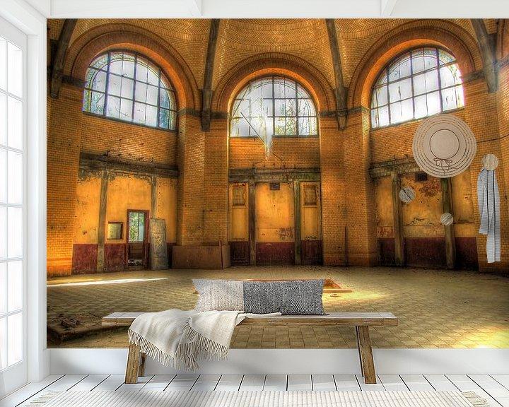 Beispiel fototapete: Badehaus in altem und verlassenem Sanatorium von Tineke Visscher