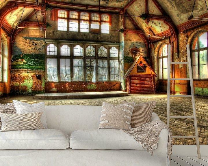 Beispiel fototapete: Spielzimmer in einem alten, verlassenen Gebäude von Tineke Visscher