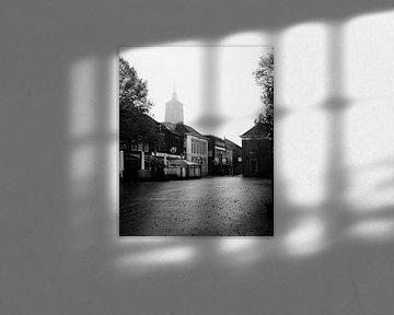 Schwarz-Weiß-Foto von Enschede Centre von Maureen Materman
