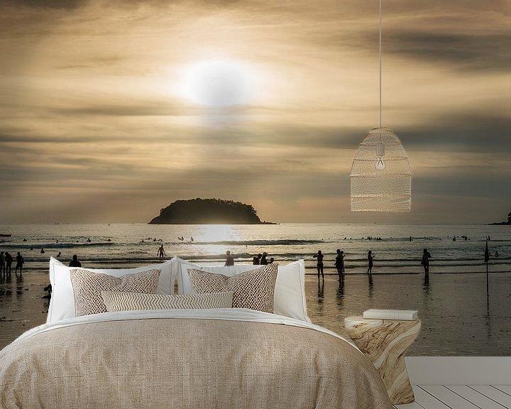 Sfeerimpressie behang: Kata beach, Phuket van Keesnan Dogger Fotografie