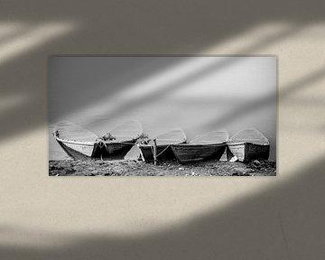 Schwarze und weiße Boote von Ellis Peeters