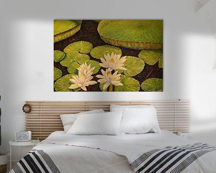 Beispiel: Victoria Regia, riessige Seerose am Amazonas von David Morales Izquierdo