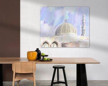 Dôme de la grande mosquée de Mascate sur Frank Heinz