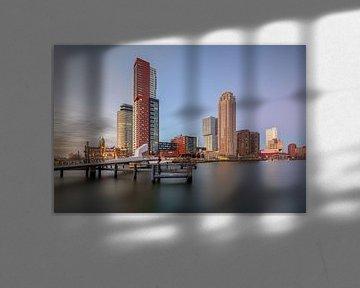 De Kop van Zuid tijdens de zonsondergang van Dennisart Fotografie