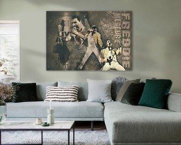 Freddie Mercury Jahrgangsporträt von Bert Hooijer