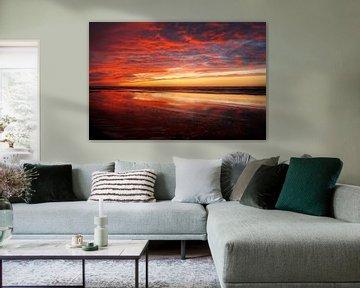 Sonnenuntergang in Zandvoort von Monique van Middelkoop