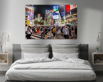 La traversée de Shibuya dans la nuit sur Jeffrey Schaefer