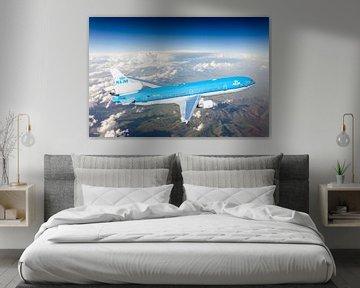 KLM McDonnel Douglas MD-11 hoog boven Oost Europa van Jeffrey Schaefer