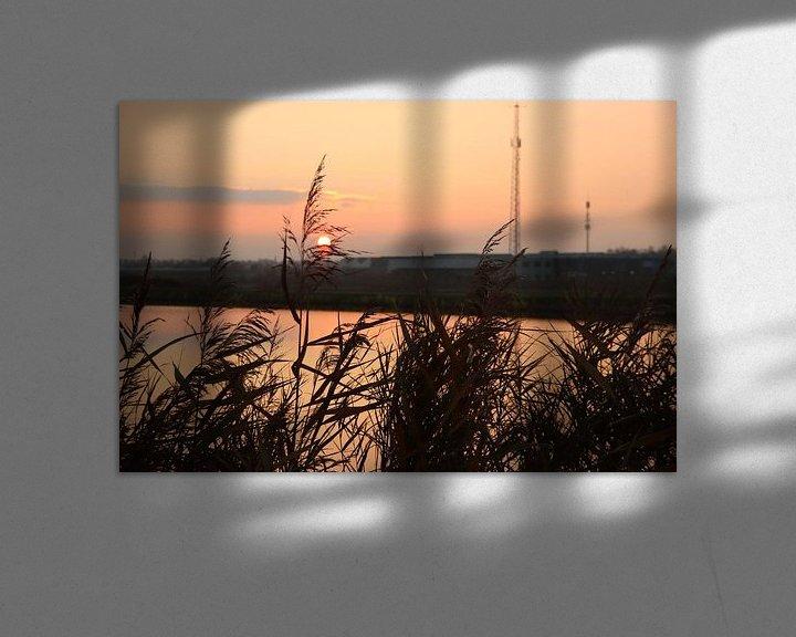 Beispiel: Sonnenuntergang als farbenfrohes Muster auf der Rotte an der Mühle Vier-Gang von André Muller