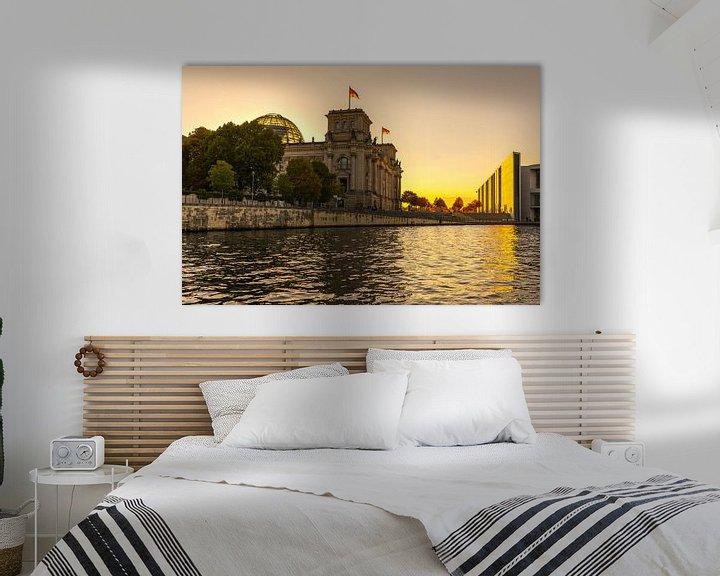 Impression: Le bâtiment du Reichstag à Berlin au coucher du soleil sur Frank Herrmann