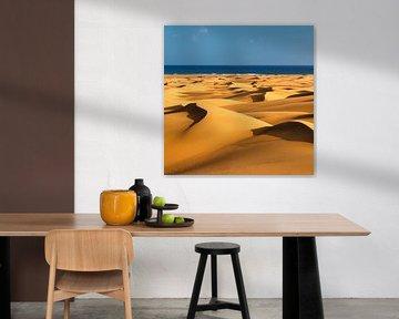 Duinen van Maspalomas bij zonsondergang, Gran Canaria, Canarische Eilanden, Spanje van Markus Lange