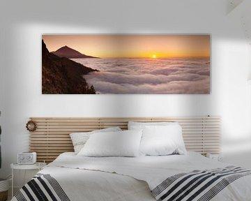 Pico del Teide au coucher du soleil, Tenerife, Canaries, Espagne sur Markus Lange