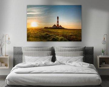 Lever du soleil au phare de Westerhever sur Ursula Reins