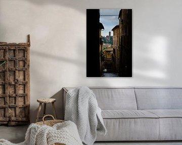 Siena Toskana Italien, Durchblick auf Santa Maria dei Servi von Robbert De Reus