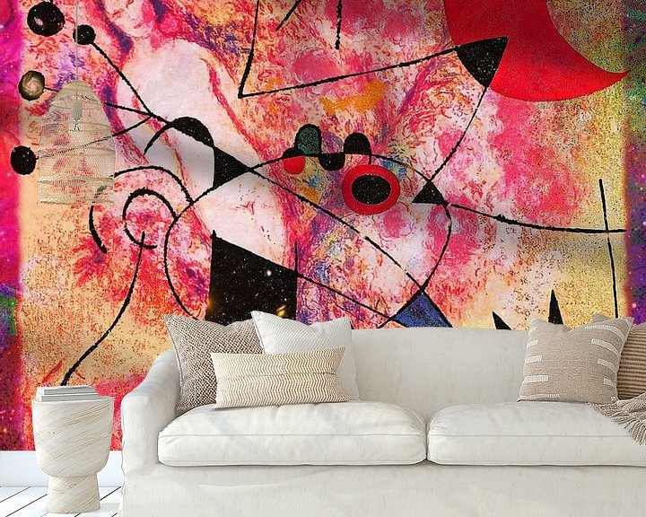 Beispiel fototapete: Kunstparty mit Chagall Miro Rothko Brandt und Zanolino von Giovani Zanolino