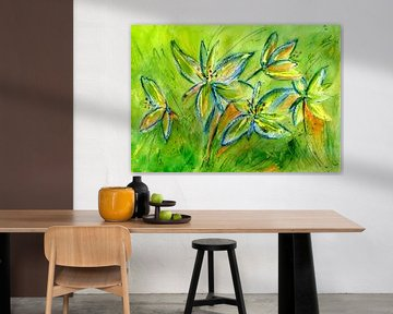 frische grüne Lilien von Claudia Gründler