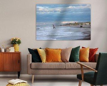 Domburg Strand van MSP Canvas