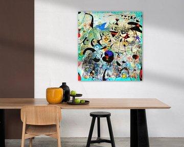 Kunstparty mit Chagall, Magritte, Rothko, Miro, Matta, Brandt und Zanolino von Giovani Zanolino