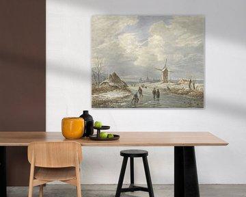 Winterlicher Blick, Matthijs Maris, auf Barend Cornelis Koekkoek
