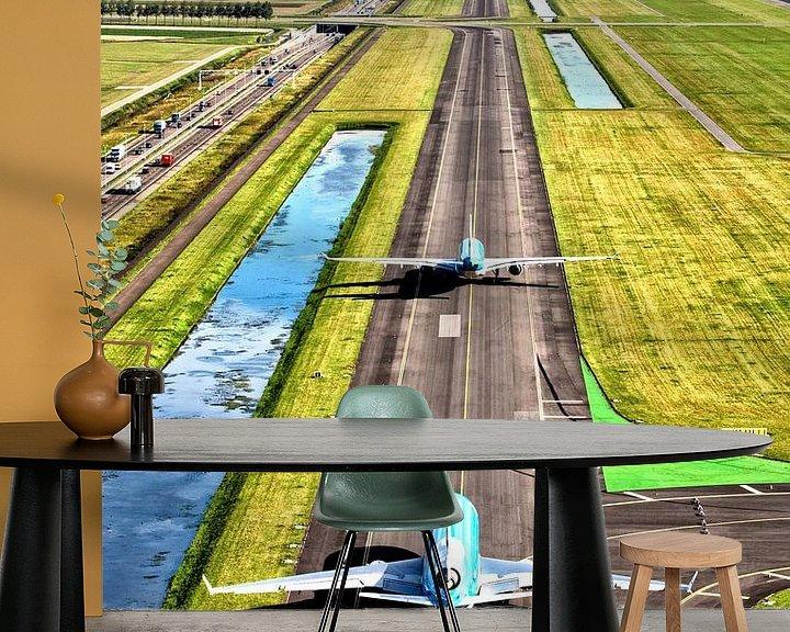 Impression: Deux avions de KLM en route vers la Polderbaan de l'aéroport d'Amsterdam Schiphol sur Jeffrey Schaefer