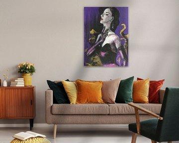 Dita von Teese von Helia Tayebi Art