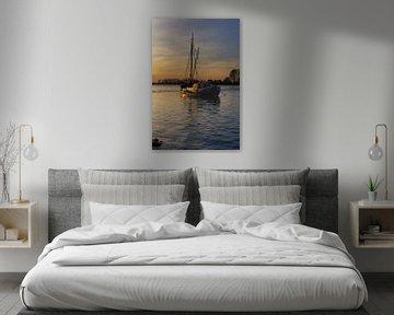 historische palingklopper aan de Rijn van Peter Eckert