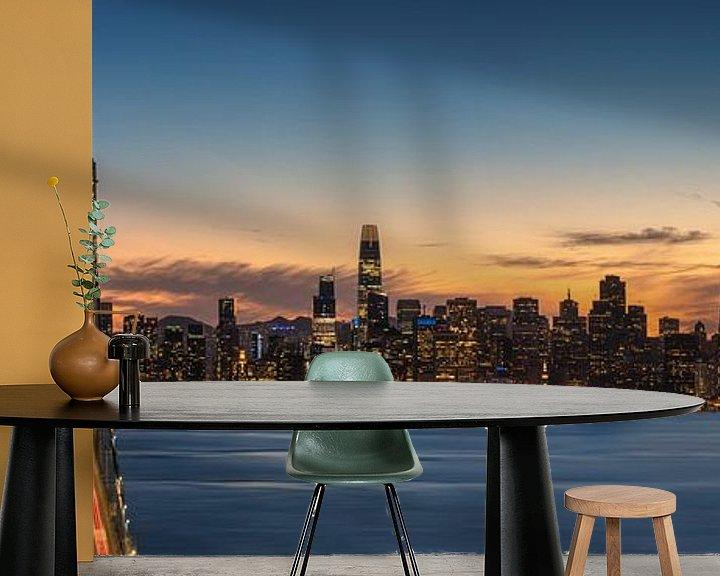 Sfeerimpressie behang: San Francisco Panorama van Photo Wall Decoration