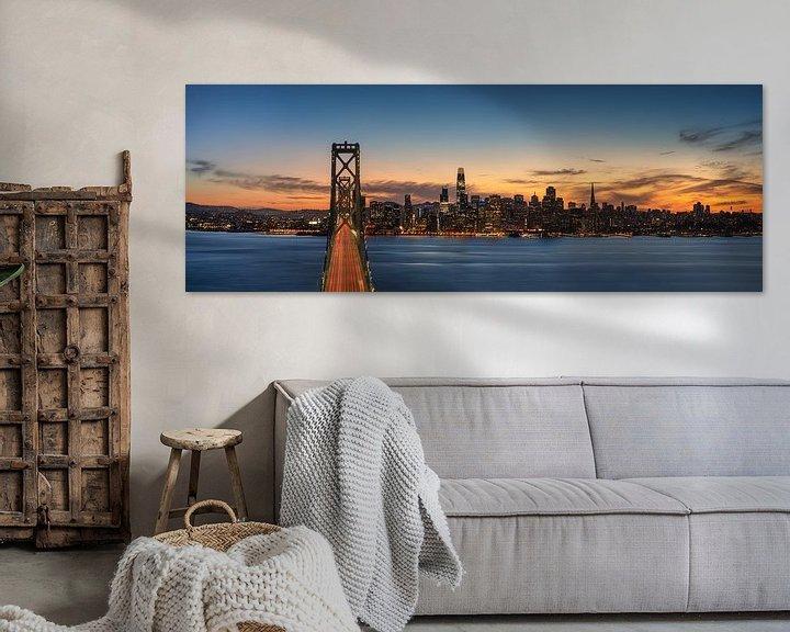 Sfeerimpressie: San Francisco Panorama van Photo Wall Decoration