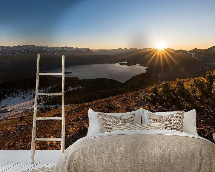 Beispiel fototapete: Sonnenuntergang am Walchensee von Denis Feiner