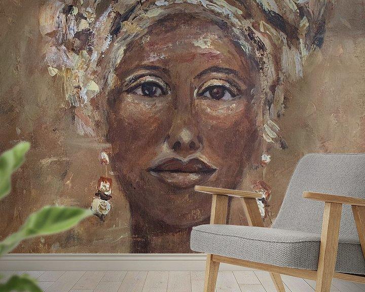 Beispiel fototapete: Afrikanische Frau Cognac von Mieke Daenen