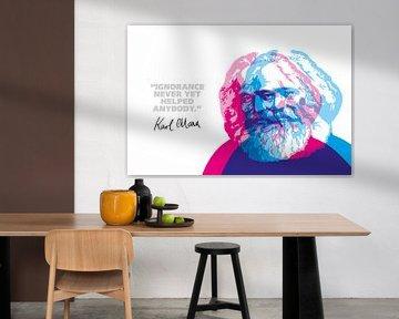 Karl Marx Quote van Harry Hadders